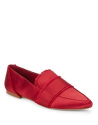 424 Fifth Hayden Satin Loafers Red