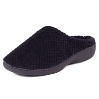 Totes Popcorn Mule Slippers Black