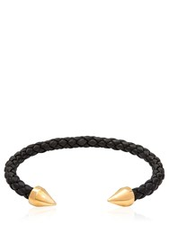 Northskull Teel Cuff Leather And Brass Bracelet