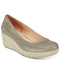 Easy Spirit Clarita Wedge Pumps Women's Shoes Gold