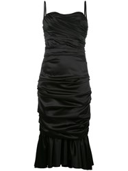 Dolce And Gabbana Ruched Bustier Dress Black