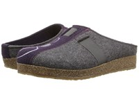 Haflinger Magic Grey Eggplant Women's Clog Shoes Gray