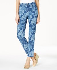Charter Club Bristol Printed Skinny Ankle Jeans Only At Macy's Blue Combo