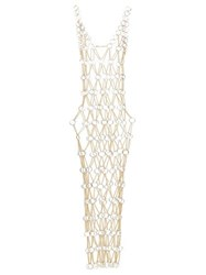 Paco Rabanne Chainmail Maxi Dress Gold