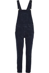 Current Elliott The Shirley Stretch Corduroy Overalls Blue
