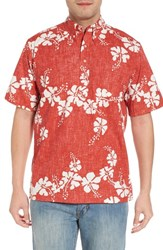 Reyn Spooner 50Th State Button Down Polo Cardinal
