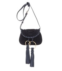 See By Chloe Polly Mini Suede Crossbody Bag Blue