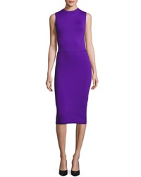 Ralph Lauren Sleeveless Ottoman Skirt Sheath Dress Purple