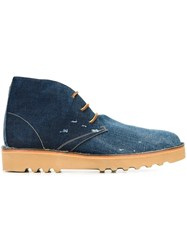 Dsquared2 Distressed Desert Boots Blue