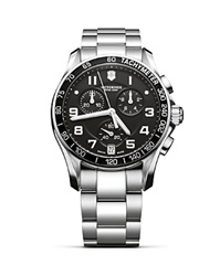Victorinox Swiss Army Classic Stainless Steel Bracelet 41 Mm Black