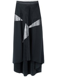 Gloria Coelho Sheer Maxi Skirt Women Polyamide M Black