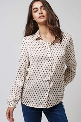 Cream Dot Daisy Blouse By Goldie