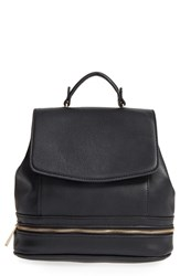 Sole Society 'Archer' Faux Leather Backpack Black
