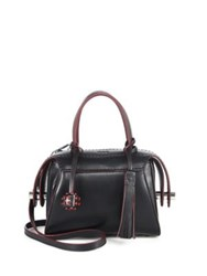 Tod's Twi Bauletto Leather Satchel Black
