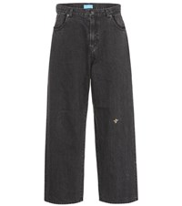 Undercover Bee Embroidered Slouchy Jeans Black