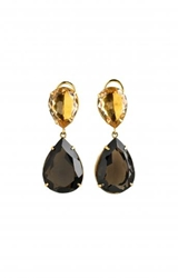 Faceted Citrine And Topaz Drop Earrings Edition01