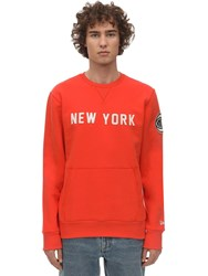 New Era Far East Cotton Blend Sweatshirt Orange
