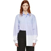 Vetements Blue And White Triple Classic Shirt