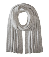 Vince Luxe Thermal Blanket Scarf Heather Steel Scarves Pink