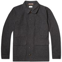 Apolis Wool Chore Jacket Charcoal