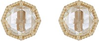 Grace Lee Crown Bezel Diamond Studs Colorless