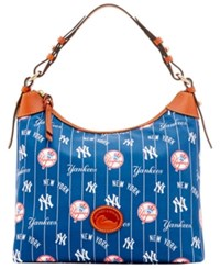 Dooney And Bourke New York Yankees Nylon Hobo Navy