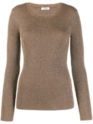 P.A.R.O.S.H. Round Neck Jumper Gold