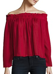 Lucca Couture Solid Off The Shoulder Top Brick