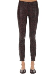 J Brand Mid Rise Cheetah Print Leather Pants Multicolor
