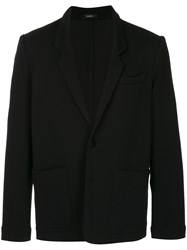 Bassike Classic Fitted Blazer Black