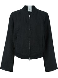 Lost And Found Rooms Kimono Sleeve Bomber Jacket Black