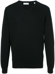 Gieves And Hawkes V Neck Sweater Black