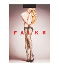 Falke Solitary Diamond Stockings Female Black