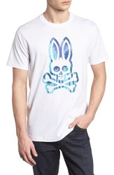 Psycho Bunny Logo Graphic T Shirt White