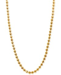 Alex Woo Beaded Chain Collar Necklace In 14K Gold Available In 16 And 18