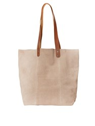 White Stuff Ginny Suede Tote Bag Natural