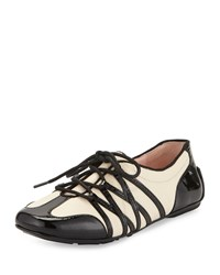 Taryn Rose Candyce Lace Up Sneaker Black Bone