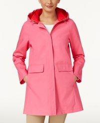 Kate Spade New York A Line Raincoat Pink Swirl Red