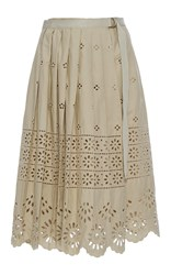 Sea Wrap Eyelet Skirt Khaki