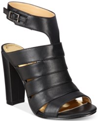 Thalia Sodi Wide Width Ebbony Strappy Dress Sandals Only At Macy's Women's Shoes Black