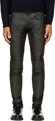 Costume N Costume Dark Grey Leather Zip Panel Pants