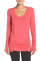 Zella Women's 'Z 6' Long Sleeve Tee Red Pepper