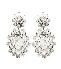 Dolce And Gabbana Crystal Clip On Earrings White