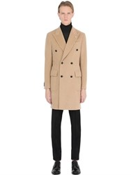 Manuel Ritz Double Breasted Wool Blend Coat