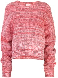 A.L.C. Oversized Jumper Red