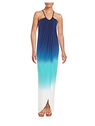 Young Fabulous And Broke Lexi Ombre Jersey Maxi Dress Blue Multi