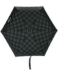 Moschino A Bear And Logo Print Umbrella Black