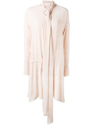 Chloe Neck Tie Dress Nude And Neutrals
