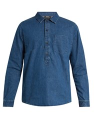 A.P.C. Duke Cotton Denim Shirt Indigo