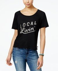 Roxy Juniors' Local Livin' Graphic T Shirt Black